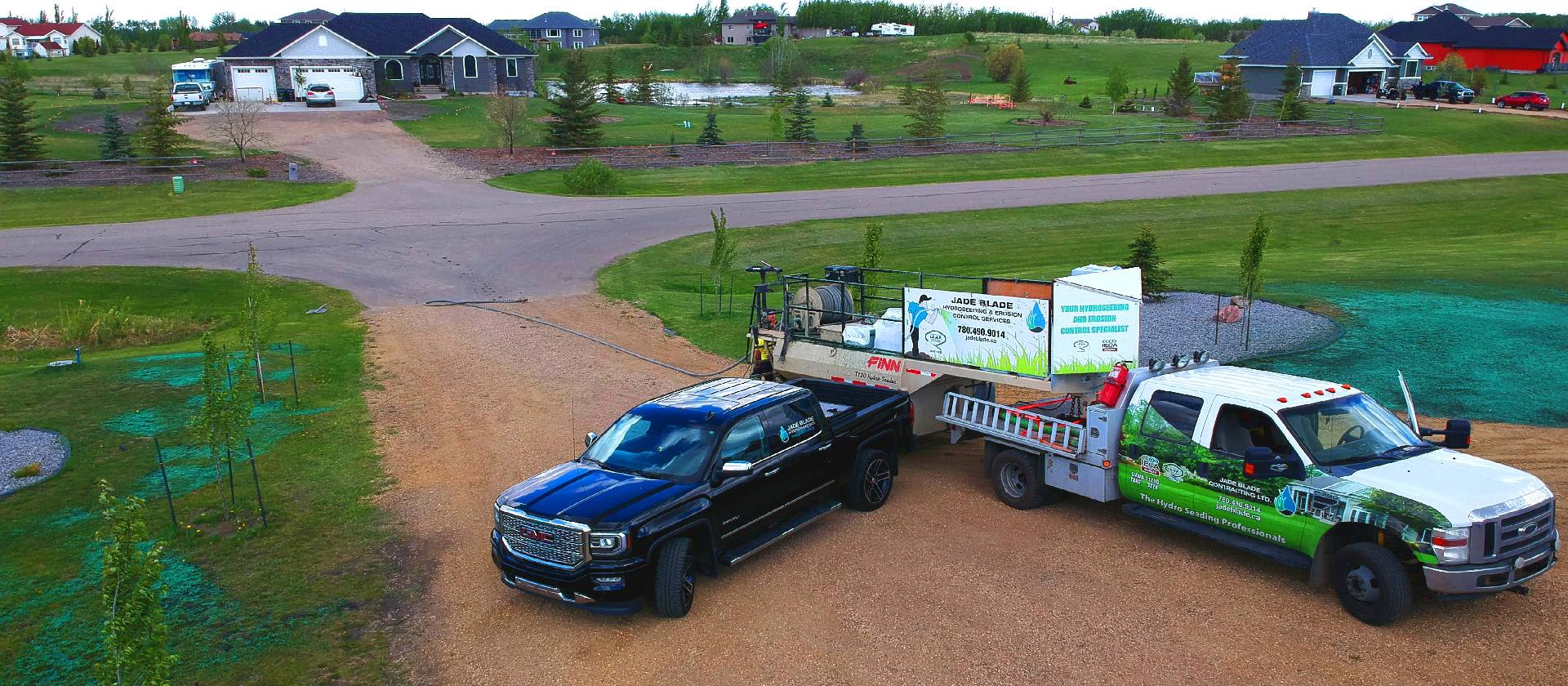 jade blade trucks gmc, hydroseeding truck